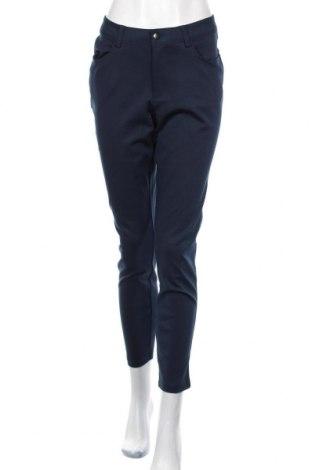 Дамски панталон Laura Torelli, Размер L, Цвят Син, 70% вискоза, 26% полиамид, 4% еластан, Цена 18,90лв.