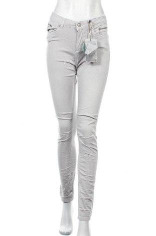 Дамски панталон M.O.D, Размер M, Цвят Сив, 55% памук, 42% полиестер, 3% еластан, Цена 15,41лв.