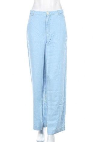 Дамски панталон Mango, Размер S, Цвят Син, Лиосел, Цена 13,30лв.
