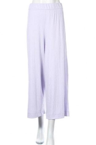 Dámské kalhoty  Monki, Velikost M, Barva Fialová, 66% polyester, 27% viskóza, 7% elastan, Cena  310,00Kč