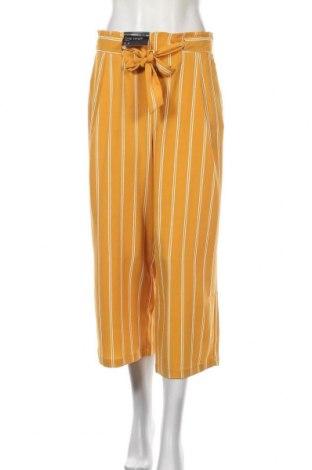 Дамски панталон New Look, Размер M, Цвят Жълт, 97% полиестер, 3% еластан, Цена 13,02лв.