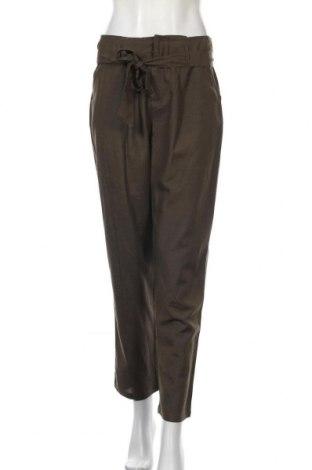 Дамски панталон ONLY, Размер S, Цвят Зелен, 50% вискоза, 40% памук, 10% лен, Цена 51,75лв.