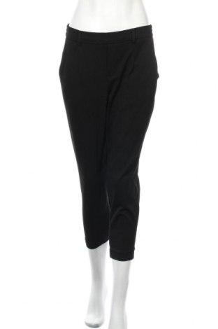 Дамски панталон Object, Размер M, Цвят Черен, 50% полиестер, 32% вискоза, 12% полиестер, 6% еластан, Цена 17,17лв.