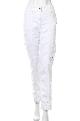 Дамски панталон Paola, Размер L, Цвят Бял, 98% памук, 2% еластан, Цена 26,42лв.