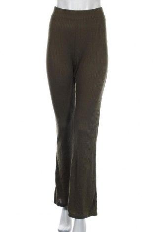 Дамски панталон Pieces, Размер XL, Цвят Зелен, 70% полиестер, 26% вискоза, 4% еластан, Цена 14,66лв.