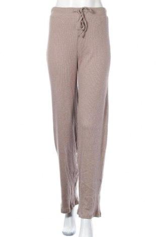 Дамски панталон Pieces, Размер S, Цвят Бежов, Памук, Цена 39,00лв.
