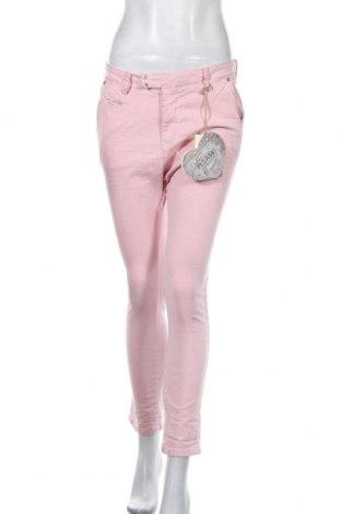 Pantaloni de femei Please, Mărime M, Culoare Roz, 98% bumbac, 2% elastan, Preț 32,51 Lei