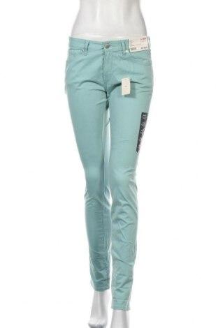 Дамски панталон Uniqlo, Размер S, Цвят Син, 53% памук, 44% модал, 3% еластан, Цена 12,86лв.