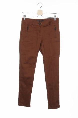 Дамски панталон Zara, Размер XS, Цвят Кафяв, Цена 13,42лв.