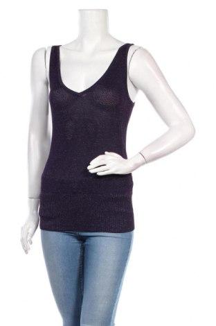 Tricou de damă H&M, Mărime S, Culoare Mov, 82% viscoză, 18% fire din metal, Preț 14,21 Lei