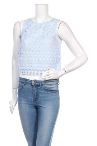 Tricou de damă H&M Divided, Mărime M, Culoare Albastru, Viscoză, Preț 28,13 Lei