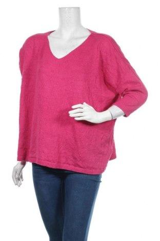 Дамски пуловер Colours Of The World, Размер L, Цвят Розов, Акрил, Цена 19,32лв.