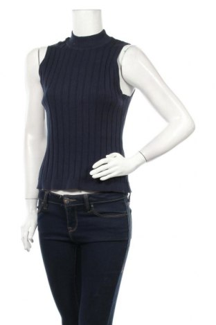 Дамски пуловер Object, Размер XL, Цвят Син, 80% памук, 20% полиамид, Цена 13,00лв.