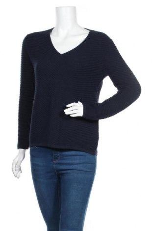Γυναικείο πουλόβερ Tom Tailor, Μέγεθος S, Χρώμα Μπλέ, Βαμβάκι, Τιμή 19,56€