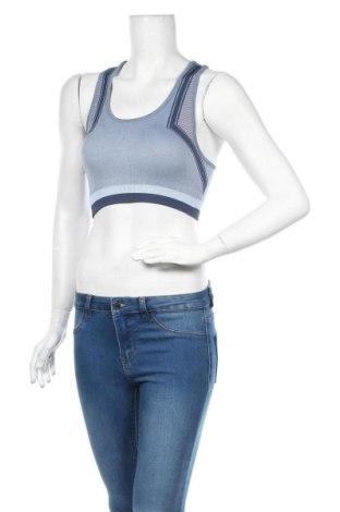 Γυναίκειο αθλητικό τοπ Even&Odd, Μέγεθος M, Χρώμα Μπλέ, 58% πολυαμίδη, 35% πολυεστέρας, 7% ελαστάνη, Τιμή 6,31€