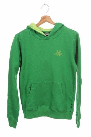 Дамски суичър Kappa, Размер XS, Цвят Зелен, 80% памук, 20% полиестер, Цена 38,22лв.
