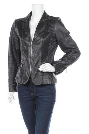 Дамско кожено яке Estelle, Размер M, Цвят Черен, Естествена кожа, Цена 31,66лв.