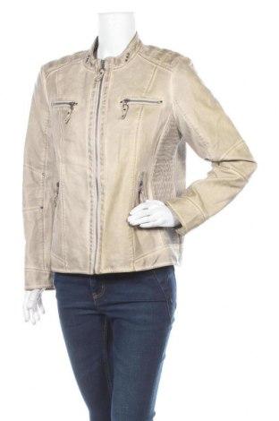 Дамско кожено яке Mainpol, Размер M, Цвят Бежов, Еко кожа, Цена 18,06лв.