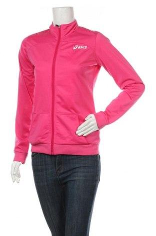 Дамско спортно горнище ASICS, Размер S, Цвят Розов, Полиестер, Цена 26,93лв.