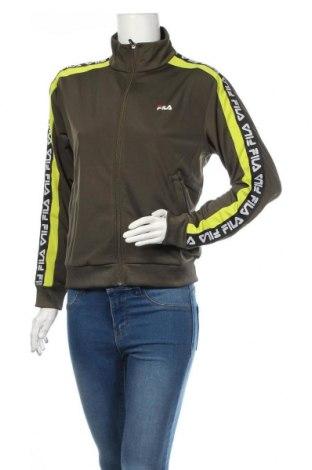Дамско спортно горнище Fila, Размер S, Цвят Зелен, Полиестер, Цена 9,08лв.