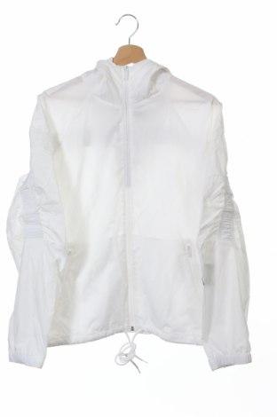 Γυναικείο μπουφάν αθλητικό Adidas, Μέγεθος XS, Χρώμα Λευκό, Πολυεστέρας, Τιμή 46,76€