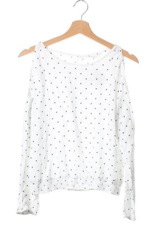 Детска блуза H&M, Размер 14-15y/ 168-170 см, Цвят Бял, Вискоза, Цена 4,66лв.