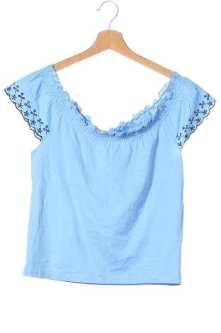 Детска блуза S.Oliver, Размер 11-12y/ 152-158 см, Цвят Син, Памук, Цена 8,25лв.