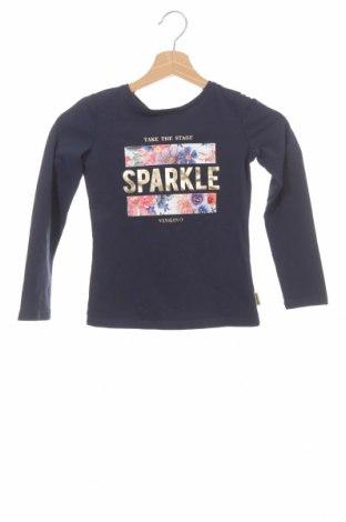 Детска блуза Vingino, Размер 7-8y/ 128-134 см, Цвят Син, 95% памук, 5% еластан, Цена 17,82лв.