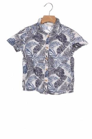 Детска риза H&M, Размер 3-4y/ 104-110 см, Цвят Син, Памук, Цена 5,32лв.