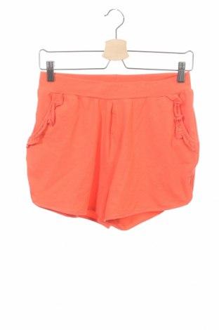 Pantaloni scurți pentru copii Name It, Mărime 13-14y/ 164-168 cm, Culoare Portocaliu, 95% bumbac, 5% elastan, Preț 50,33 Lei