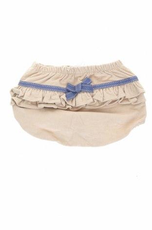 Детски къс панталон Tutto Piccolo, Размер 6-9m/ 68-74 см, Цвят Бежов, 97% памук, 3% еластан, Цена 7,14лв.