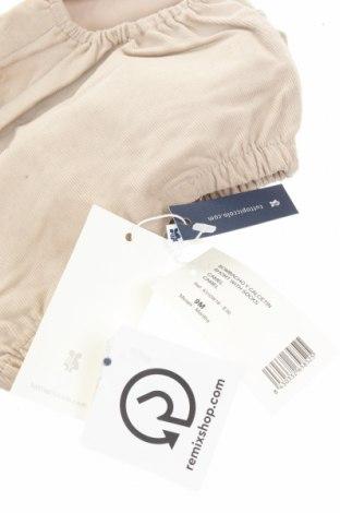 Детски къс панталон Tutto Piccolo, Размер 6-9m/ 68-74 см, Цвят Бежов, 97% памук, 3% еластан, Цена 25,50лв.