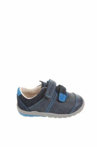 Încălțăminte pentru copii Clarks, Mărime 18, Culoare Albastru, Piele naturală, velur natural, Preț 90,79 Lei