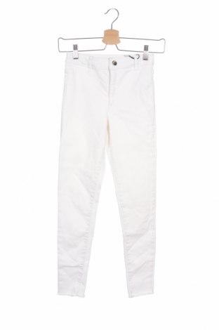 Dziecięce spodnie Zara, Rozmiar 11-12y/ 152-158 cm, Kolor Biały, 75% bawełna, 22% poliester, 3% elastyna, Cena 49,00zł