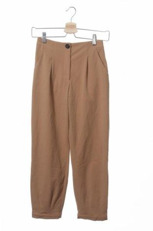 Pantaloni pentru copii Zara, Mărime 13-14y/ 164-168 cm, Culoare Maro, 70% poliester, 25% viscoză, 5% elastan, Preț 25,70 Lei