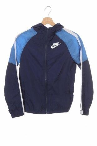 Детско спортно яке Nike, Размер 11-12y/ 152-158 см, Цвят Син, Полиестер, Цена 31,36лв.