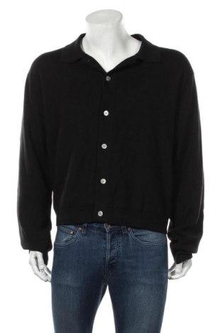 Мъжка жилетка Weekday, Размер L, Цвят Черен, 50% памук, 37% вискоза, 13% коприна, Цена 30,56лв.