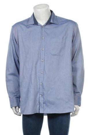 Мъжка риза, Размер XL, Цвят Син, 60% памук, 40% полиестер, Цена 5,62лв.