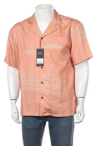 Мъжка риза, Размер L, Цвят Оранжев, 60% памук, 40% вискоза, Цена 11,68лв.