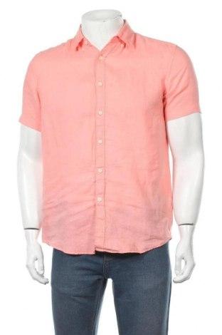 Мъжка риза Esprit, Размер S, Цвят Розов, Лен, Цена 10,79лв.