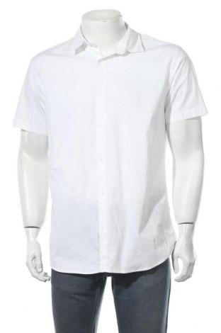 Мъжка риза Jack & Jones, Размер XL, Цвят Бял, 97% памук, 3% еластан, Цена 13,64лв.