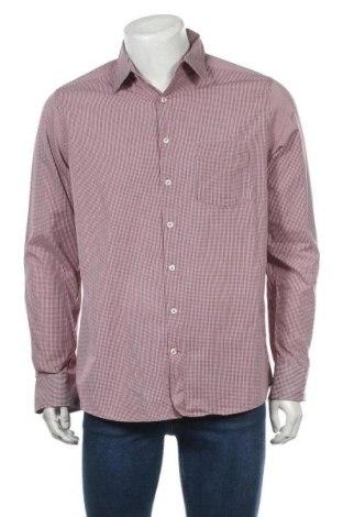Мъжка риза John Cabot, Размер L, Цвят Червен, Памук, Цена 5,86лв.