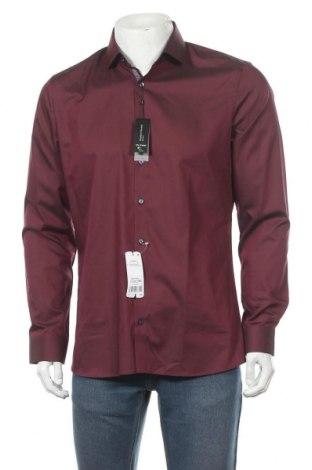 Мъжка риза Olymp, Размер L, Цвят Червен, 97% памук, 3% еластан, Цена 33,97лв.