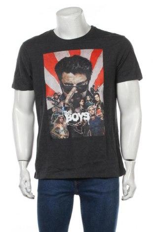 Tricou de bărbați, Mărime L, Culoare Gri, 60% bumbac, 40% poliester, Preț 7,35 Lei