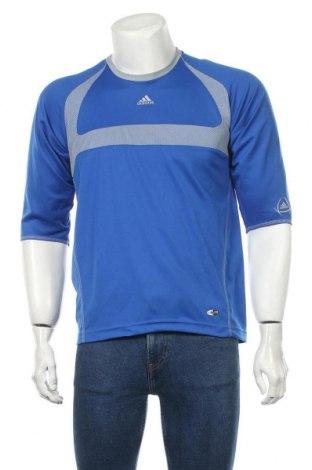 Tricou de bărbați Adidas, Mărime S, Culoare Albastru, Poliester, Preț 28,75 Lei
