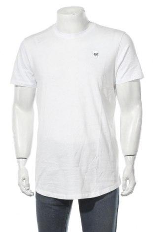 Мъжка тениска Jack & Jones, Размер L, Цвят Бял, Памук, Цена 11,96лв.