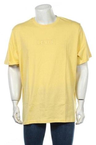Мъжка тениска Levi's, Размер XL, Цвят Жълт, Памук, Цена 29,50лв.