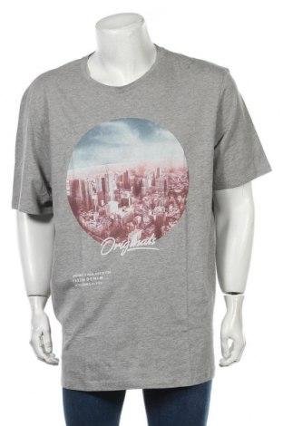 Мъжка тениска Originals By Jack & Jones, Размер 3XL, Цвят Сив, 85% памук, 15% вискоза, Цена 23,52лв.