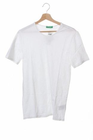 Tricou de bărbați United Colors Of Benetton, Mărime XS, Culoare Alb, Bumbac, Preț 7,35 Lei