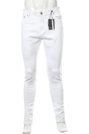 Мъжки дънки Brave Soul, Размер L, Цвят Бял, 98% памук, 2% еластан, Цена 24,15лв.
